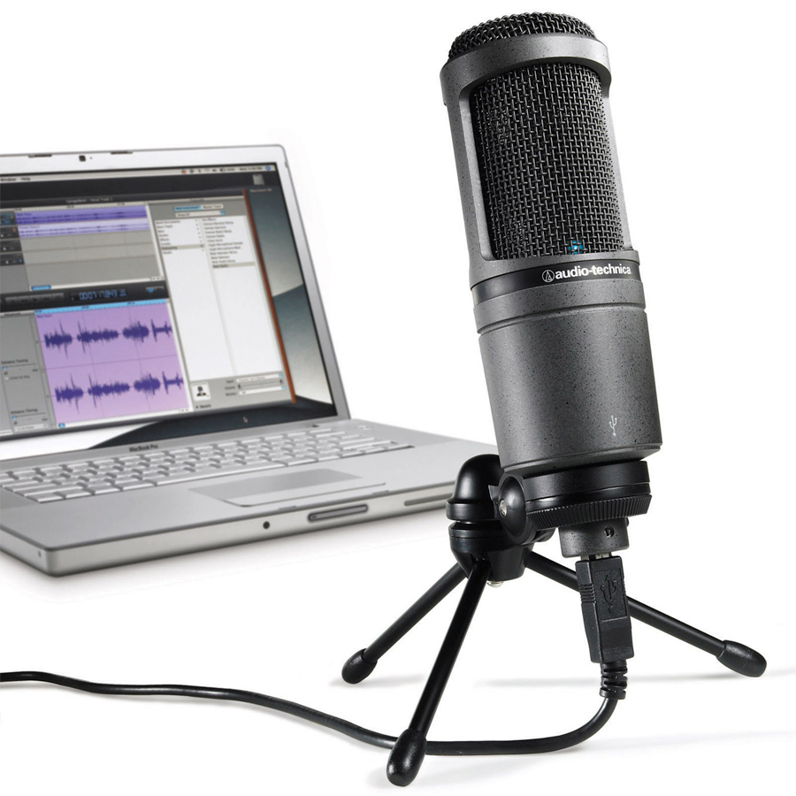 Audio Technica AT2020 USB W/ Computer