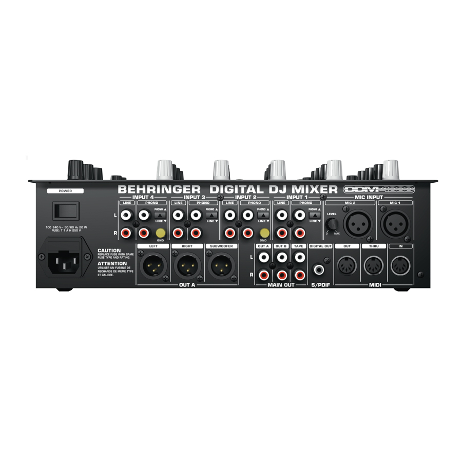 Behringer DDM4000 Rear View