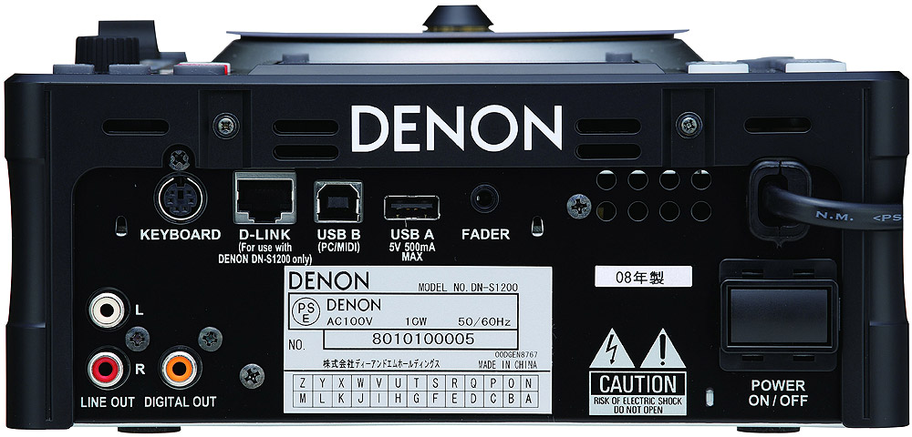 Denon DN-S1200 Rear View