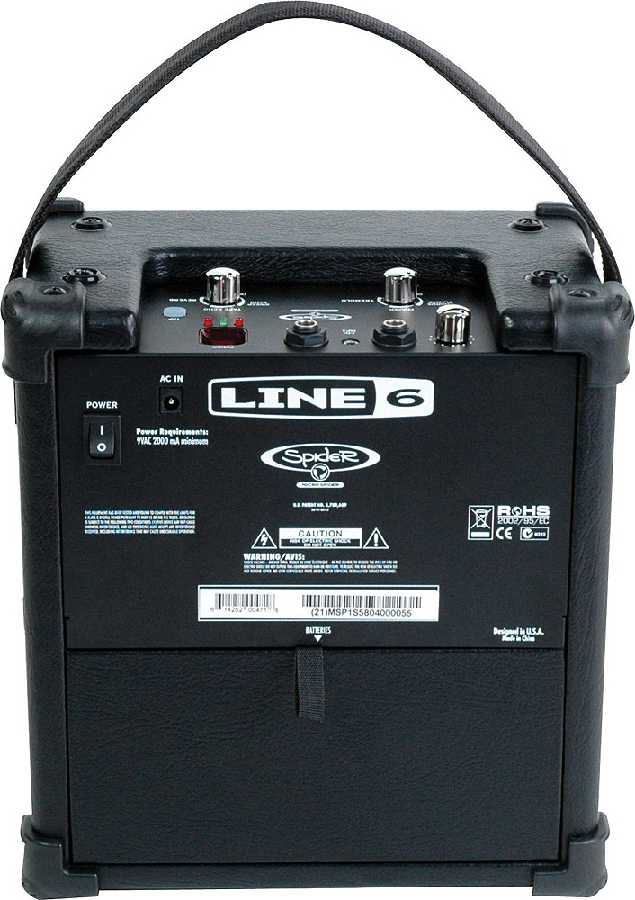 Line 6 Micro Spider Rear View