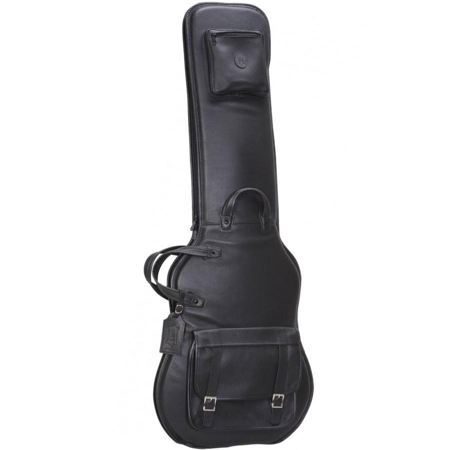 LM19 Premium Leather Bass Guitar Bag