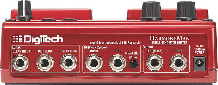 Digitech HarmonyMan Rear View
