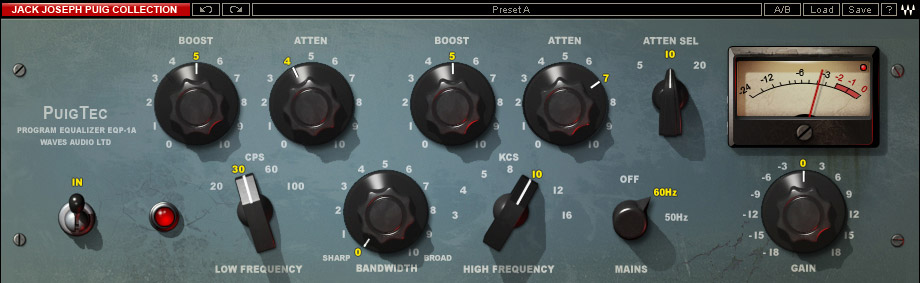 Waves Jack Joseph Puig Analog Legends - TDM Digital Download PuigTec-EQP1A