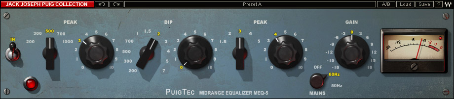 Waves Jack Joseph Puig Analog Legends - TDM Digital Download PuigTec-MEQ5