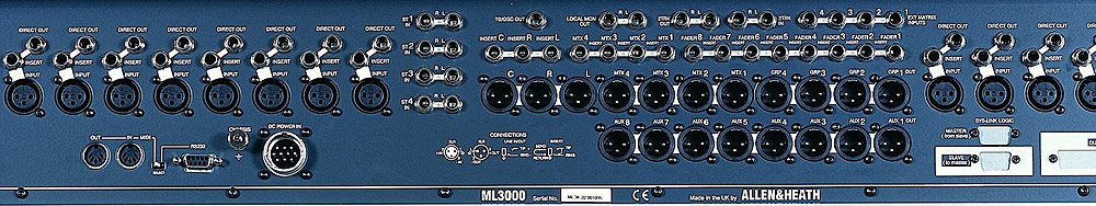 Allen Heath ML3000-32A Rear View
