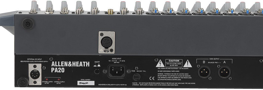 Allen Heath PA20-CP Rear View