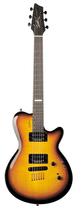 Godin Summit CT Ebony Sunburt Flame
