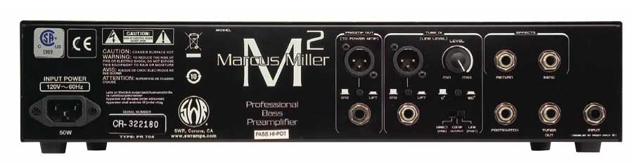 SWR Marcus Miller PreampRear View