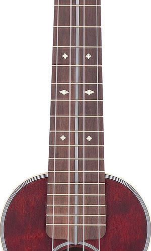 Martin 3 Ukulele - Cherry Fingerboard View