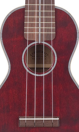 Martin 3 Ukulele - Cherry Bridge View