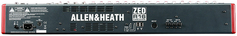 Allen Heath ZED-R16 Rear View
