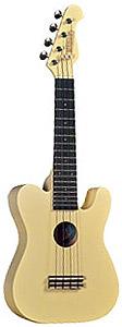 Mahalo UTL-30 Classic Guitar Shape UkuleleVintage White
