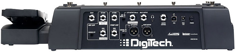 Digitech RP1000 Rear View