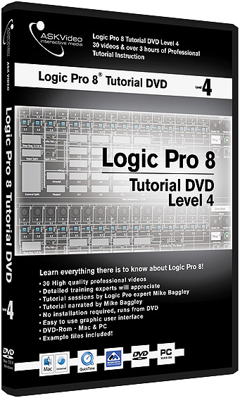 Logic Pro 8 Tutorial DVD -  Level 4