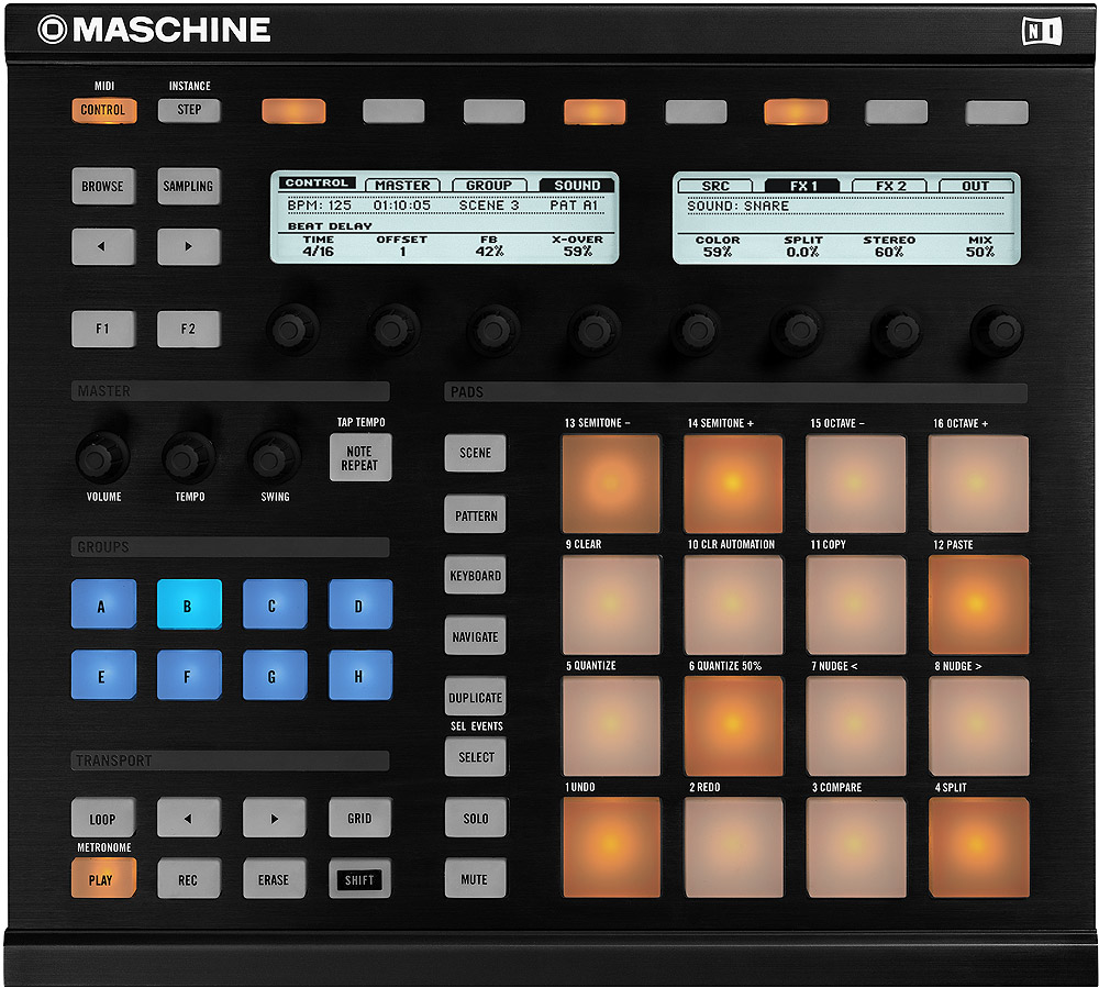 Native Instruments Maschine Interface View