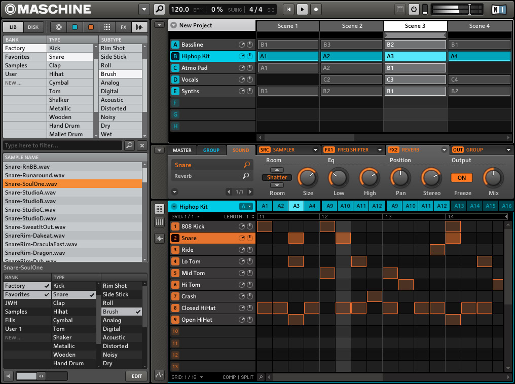 Native Instruments Maschine Screenshot View