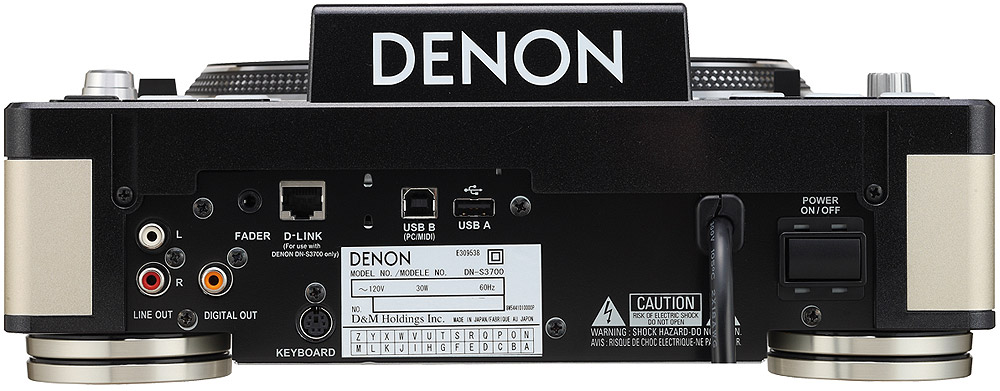 Denon DN-S3700 Rear View