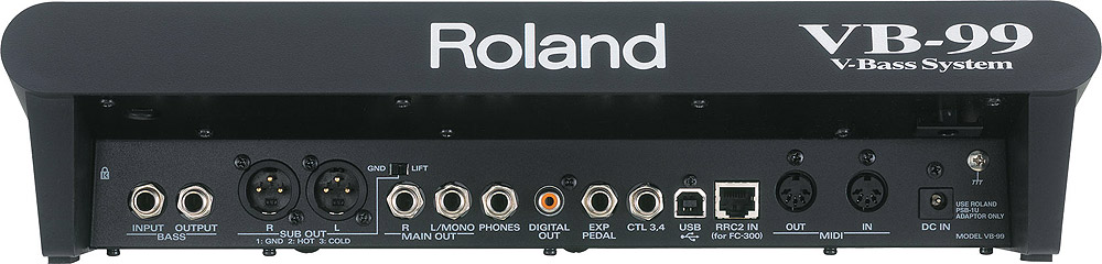 Roland VB-99 with GK-3B VB-99 Rear View