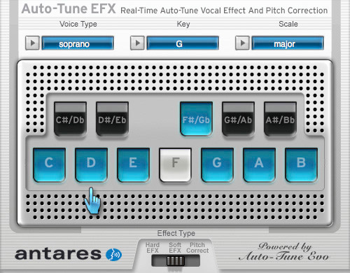 Antares Auto-Tune EFX Screenshot View