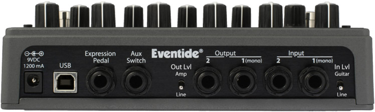 Eventide PitchFactor Rear View