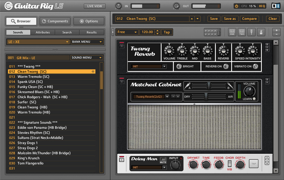 Native Instruments Guitar Rig Mobile Screenshot View 2