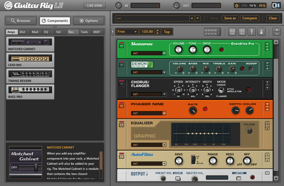 Native Instruments Guitar Rig Mobile Screenshot View 3