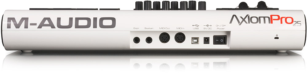 M-Audio Axiom Pro 25 Rear View
