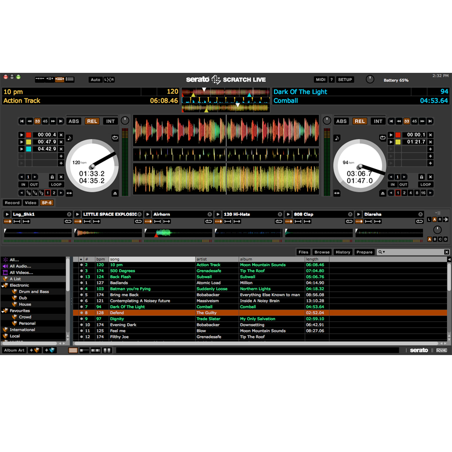 Rane SL3 Serato  Software Screenshot