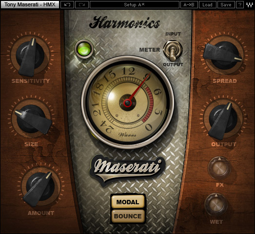 Waves Tony Maserati Collection - Native Digital Download HMX Harmonics Generator