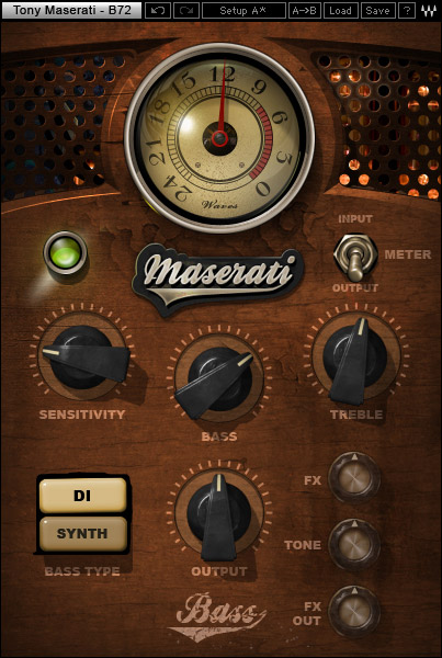 Waves Tony Maserati Collection - Native Digital Download B72 Bass Phattener