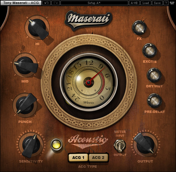 Waves Tony Maserati Collection - Native Digital Download ACG Acoustic Guitar Designer
