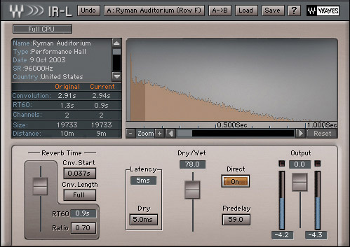 Waves Silver - Native Digital Download IR-L Convolution Reverb
