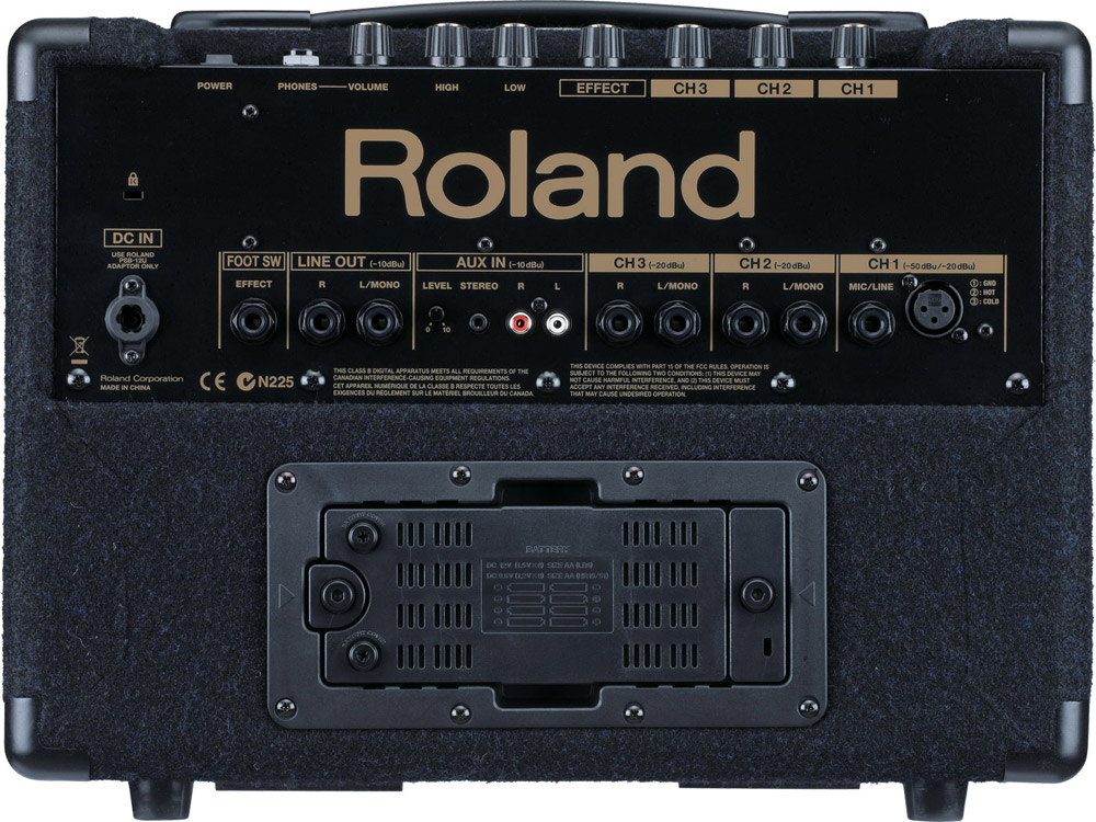 Roland KC-110 Open Box Rear View