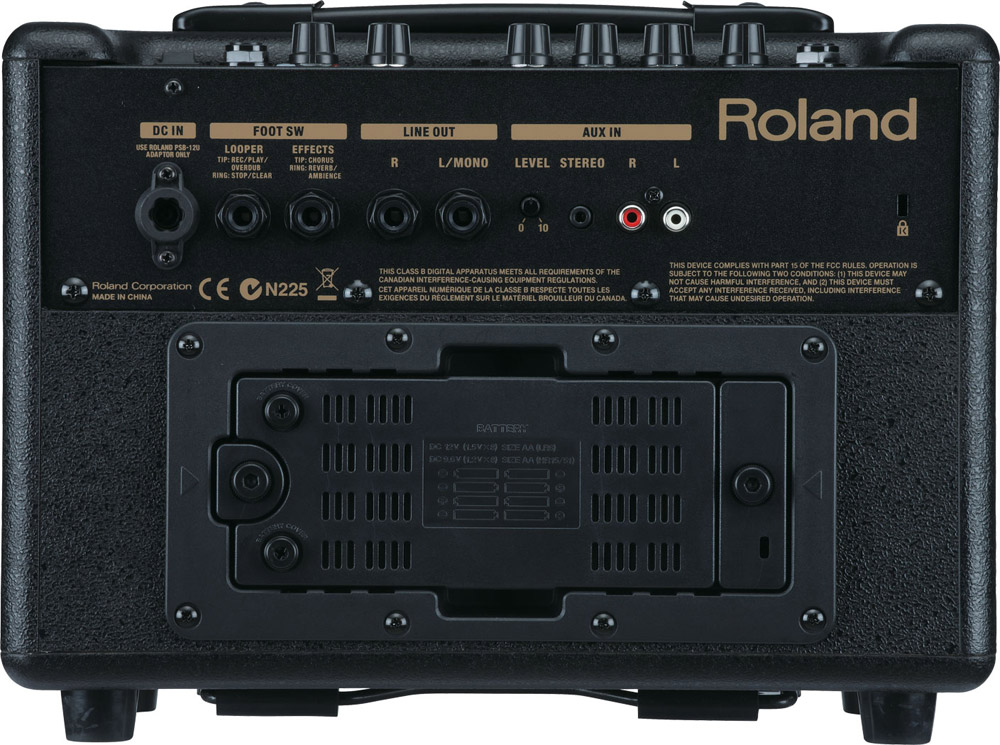 Roland AC-33 Open Box Rear View