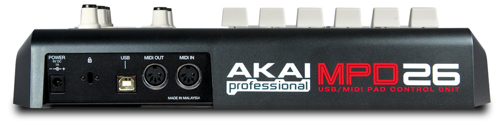 Akai MPD26 Rear View