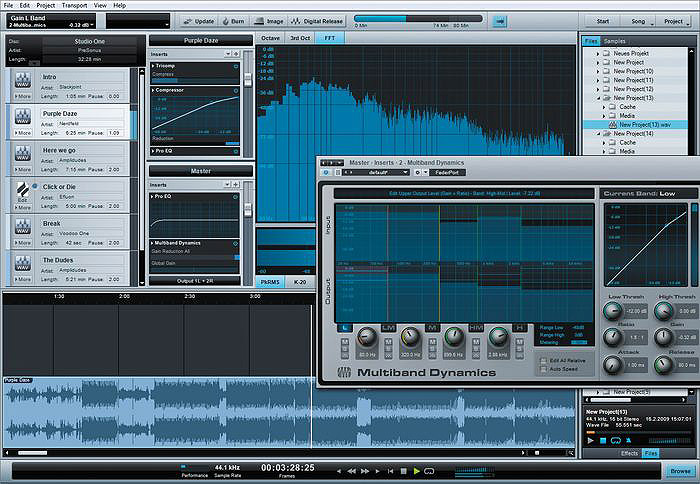 Presonus Studio One Artist Interface View