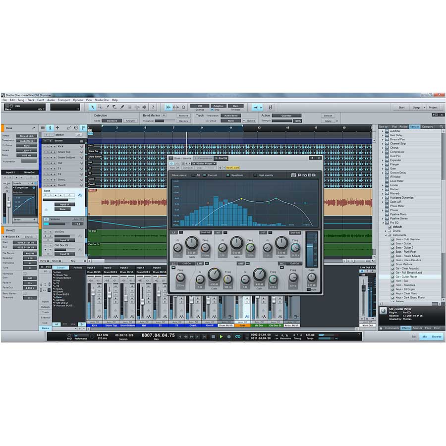 Presonus Studio One 2 Professional  Song Page