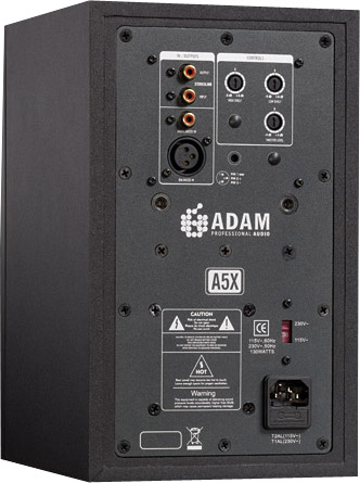 Adam Audio A5X Pair Rear View