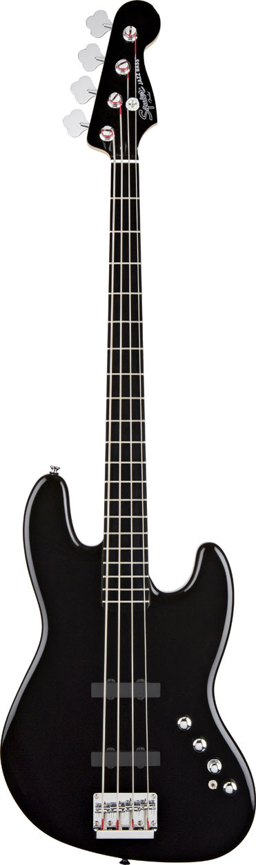 Deluxe Jazz Bass Active - Black Ebonol