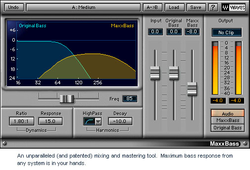 Waves Gold - TDM Digital Download Maxx Bass