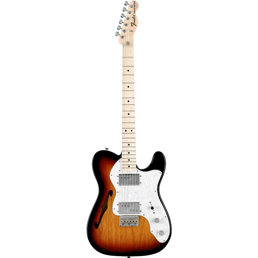 72 Telecaster® Thinline - 3-Color Sunburst with Gig Bag