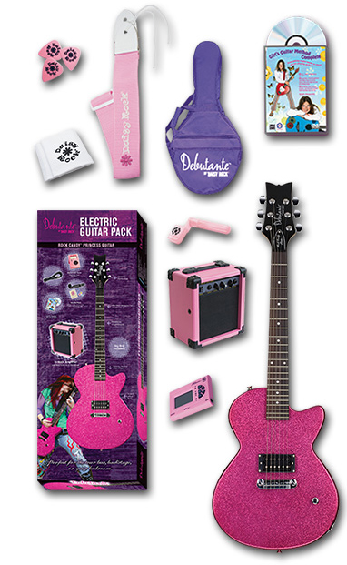 Daisy Rock Debutante Rock Candy Princess Electric Pack Complete Pack