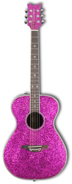 Pixie Acoustic Left-Handed Pink Sparkle