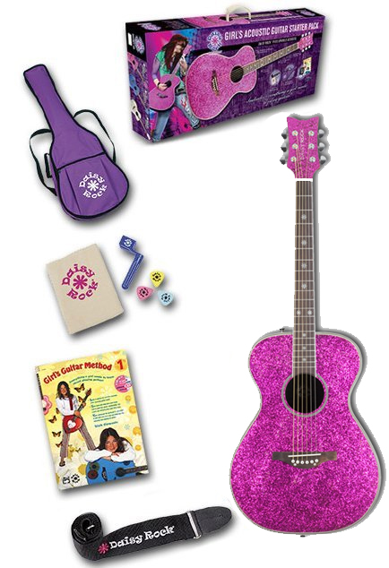 Pixie Acoustic Starter Pack - Pink Sparkle