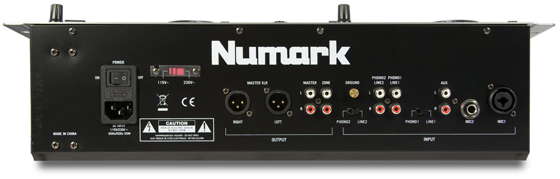 Numark iCDMIX 3 Back View