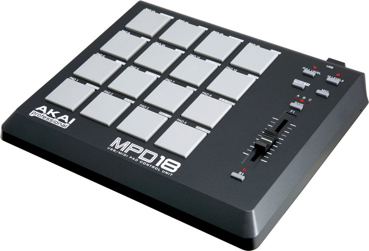 Akai MPD18 Side View