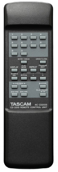 Tascam CD-200i Remote Control