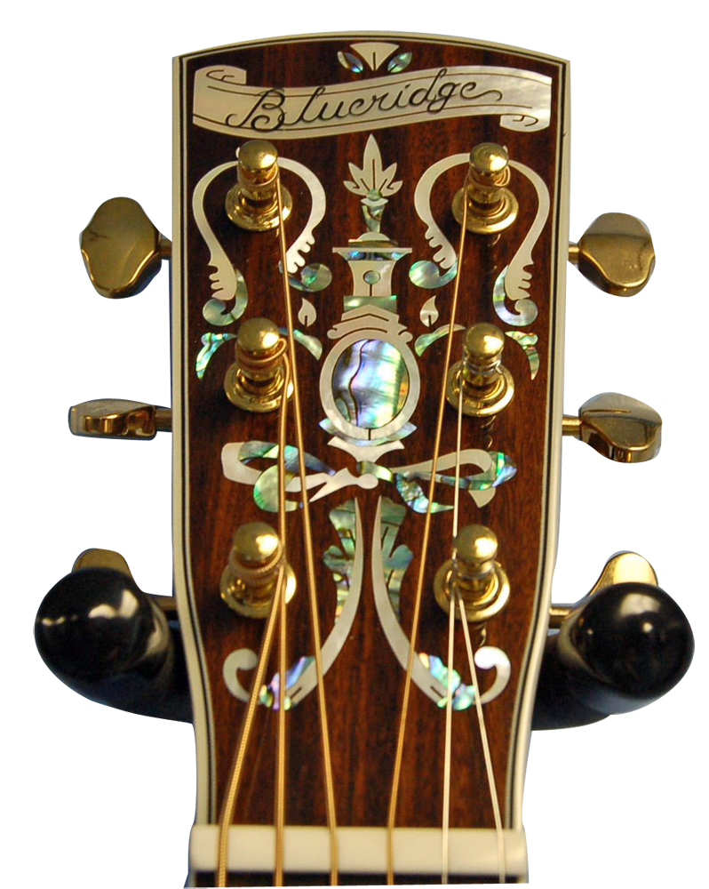 Blueridge BR-180 Historic Series Headstock Detail