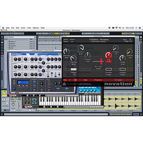 Novation Nocturn Ableton Screen