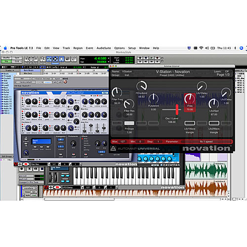 Novation Nocturn Protools Screen
